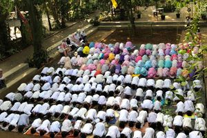 simulasi sholat Iedul Adha di SD Semut Semut, 1440 H ut the natural school